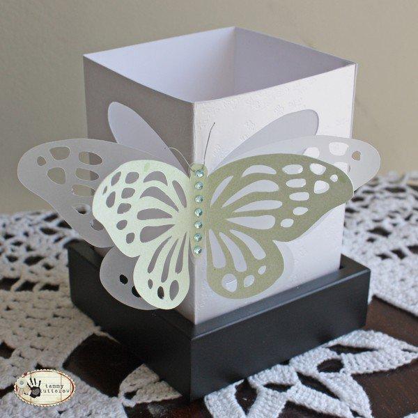 Febreze Luminary Shade with Cricut Butterfly