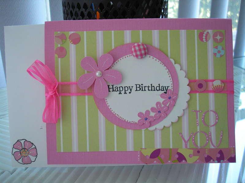 Happy Birthday (pink & green)