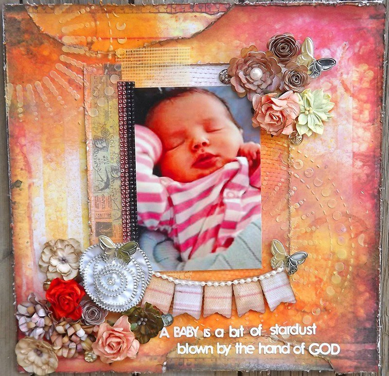 ***June ScrapThat! kit***   A baby is