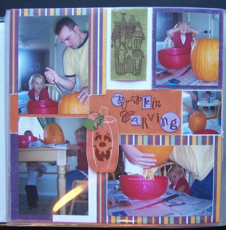 Pumpkin Carving - Left Page