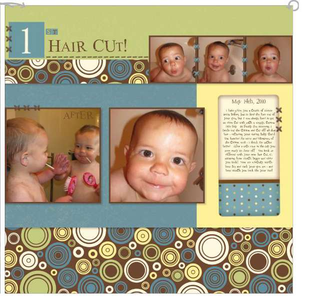 1st Haircut - right page