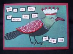 Birthday card - crows feet