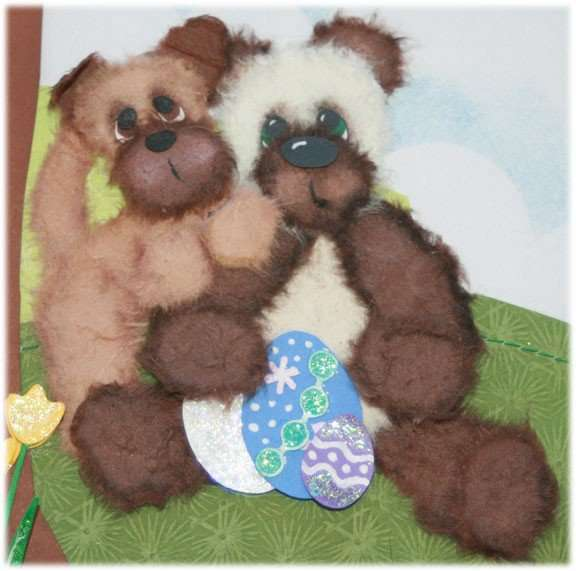Detail of Easter Layout Dog and Bear