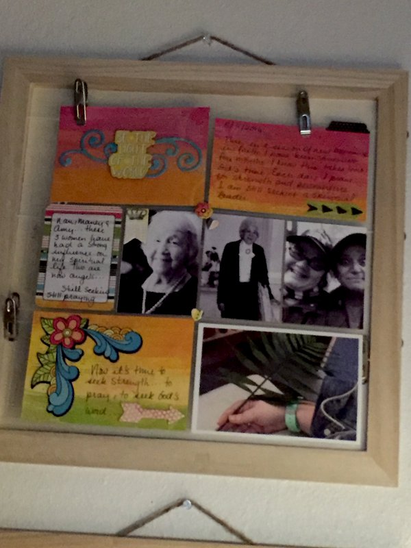 My first Pocket Page Layout 'Spiritual Mentors'