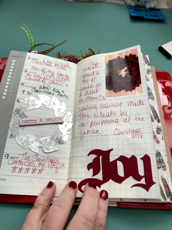 December Advent Traveler's Notebook