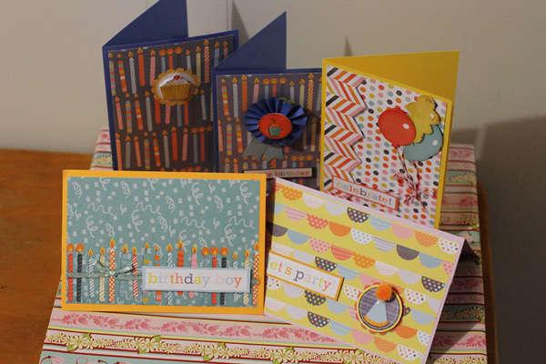 5 hybrid birthday cards