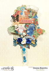 Create imagine inspire hanging tag
