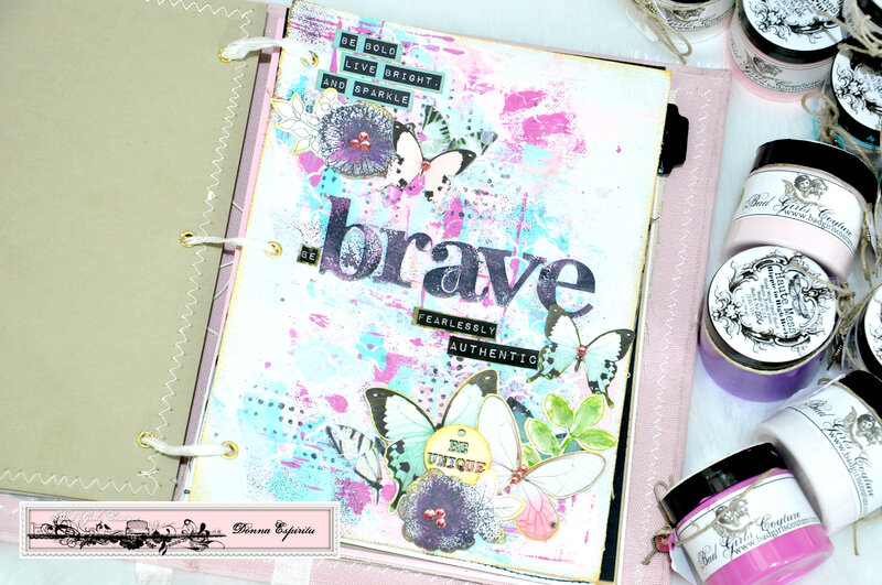 be brave art journal page