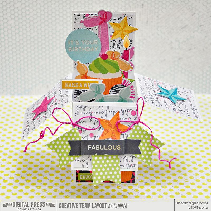 it's your birthday hybrid box card