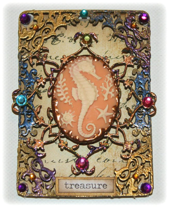 Trinkets & Treasures ATC **Dusty Attic July Challenge**