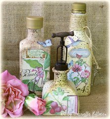 Vintage Bottles **VIDEO TUTORIAL**GRAPHIC 45 Guest Designer**