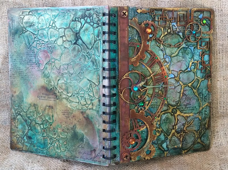 Steampunk Style Art Journal {The Crafter's Workshop with VIDEO TUTORIAL}