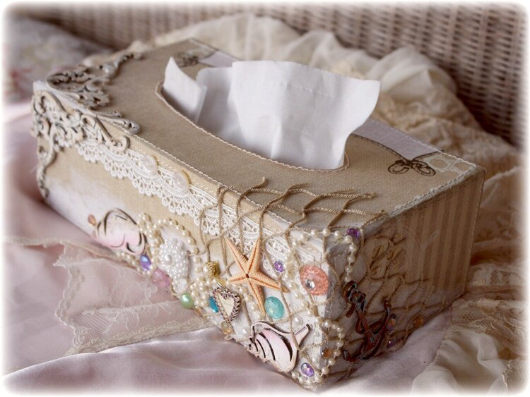 Tissue Box Cover *Websters Pages & Dusty Attic DT**
