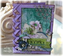 Braided Edge Card **Bo Bunny- Enchanted Garden**