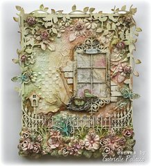 Mixed Media Canvas & VIDEO TUTORIAL **Dusty Attic Designs**