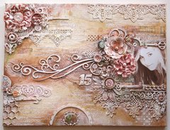 Mixed Media Canvas {Video Tutorial - Dusty Attic & Tresors De Luxe}
