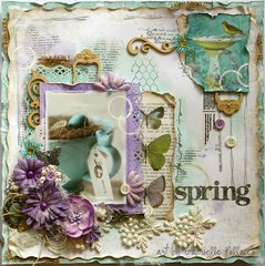 A Cup of Spring w. VIDEO TUTORIAL! **Bo Bunny - Enchanted Garden**