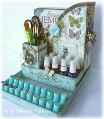 Bo Bunny Enchanted Garden Desk Organizer