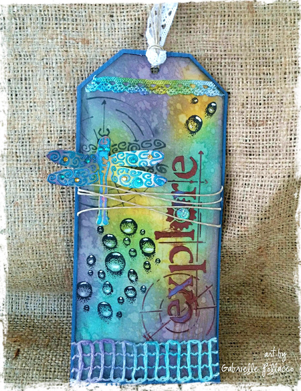 VIDEO TUTORIAL: Dragonfly Tag **TCW Stencils and My Own Stamps!**