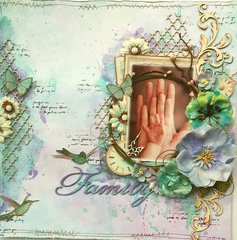Family **THE SCRAPBOOK DIARIES Kit Page & Tutorial**
