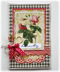 Card made with NEW Websters Pages Modern Romance Collection