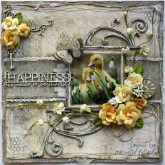 Happiness is.... **The Scrapbook Diaries Kit Page & Video Tutorial**