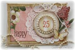 Happy 25th Anniversary Card **Websters Pages**
