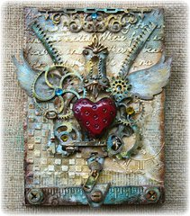 Steampunk Mixed Media Canvas w. VIDEO TUTORIAL