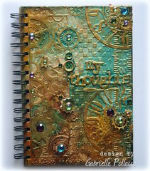VIDEO TUTORIAL: Steampunk Mixed Media Journal Cover {Cheery Lynn Dies}