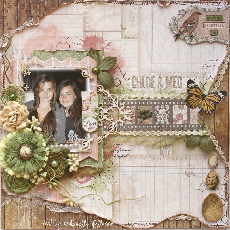 Chloe & Meg **Bo Bunny ~ Garden Journal**