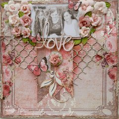 Love **Double Page Kit - The Scrapbook Diaries**