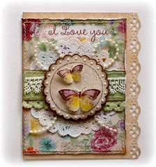 I Love You Card **Bo BUnny Ambrosia**