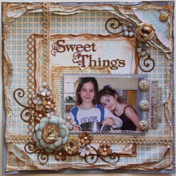 Sweet Things ***MY CREATIVE SCRAPBOOK*** plus a flower tutorial!!