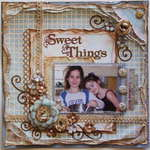 Sweet Things ***MY CREATIVE SCRAPBOOK*** plus a flower tutorial!!