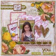 Love You  **MY CREATIVE SCRAPBOOK**