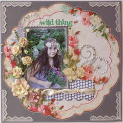 Wild Thing  **MY CREATIVE SCRAPBOOK** + BLOOM TUTORIAL!!
