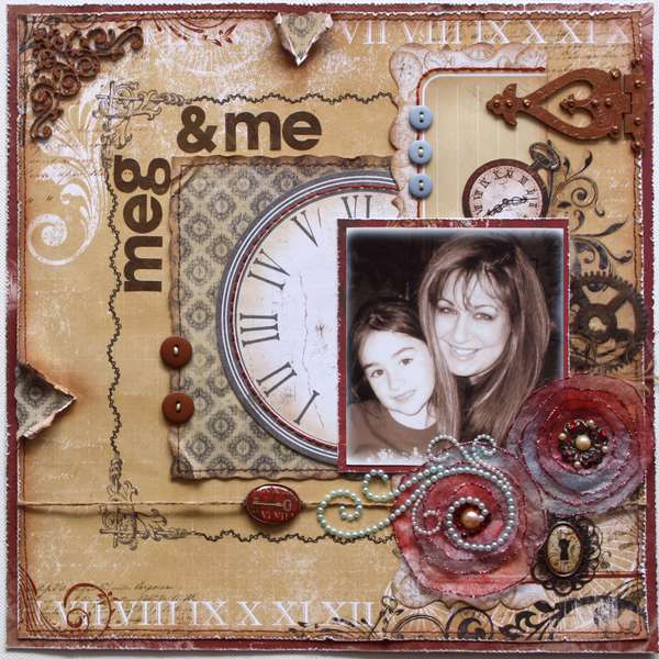 Meg & Me **Bo Bunny & Dusty Attic* FLOWER TUTORIAL TOO!!