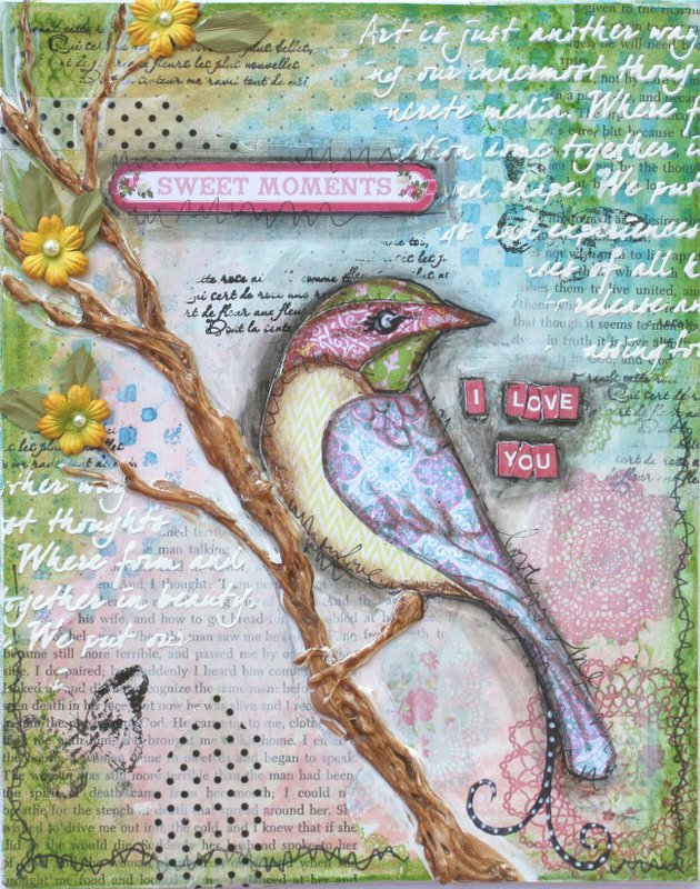Mixed Media Canvas VIDIO TUTORIAL **Websters Pages DT**