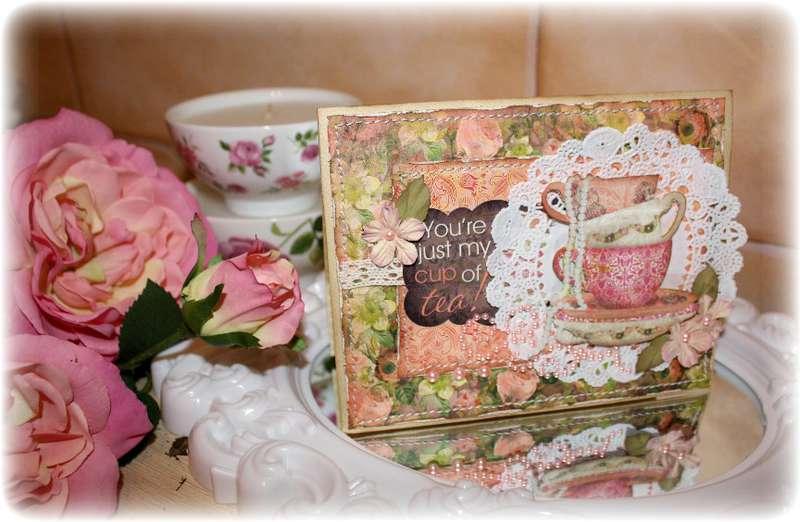 Bo Bunny 'Little Miss' Card