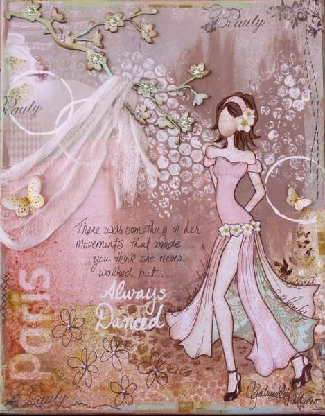 Mixed Media Canvas (Template & Instructional Video!!)