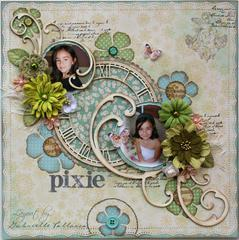 Pixie  **Bo Bunny Snow Day Collection & Dusty Attic**