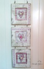 Shabby-Chic Wall Art (With a Stencil I designed for TCW!!)