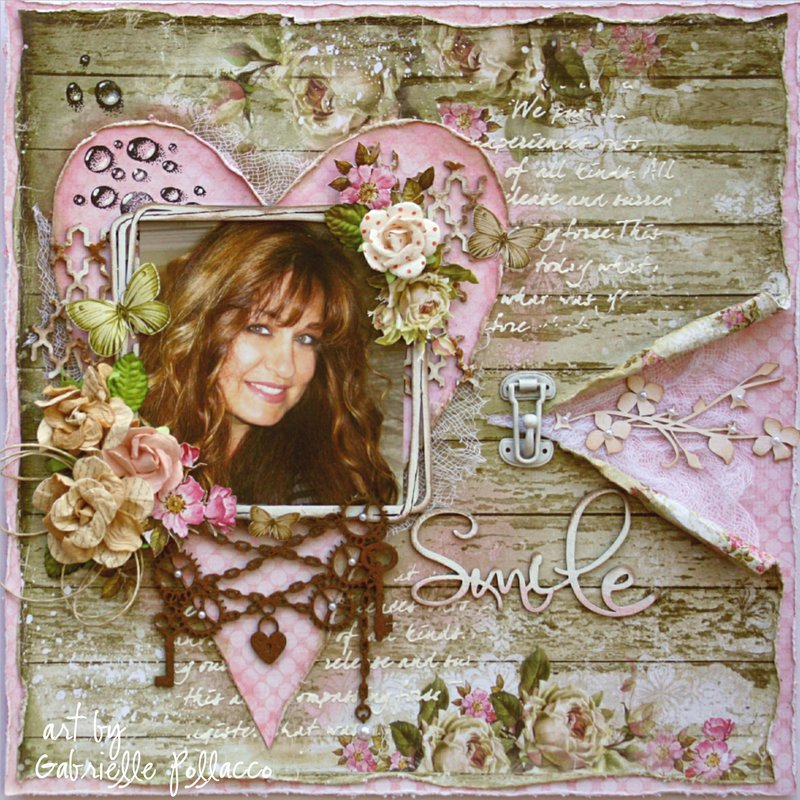 Smile **Kit Page & Video Tutorial - The Scrapbook Diaries**