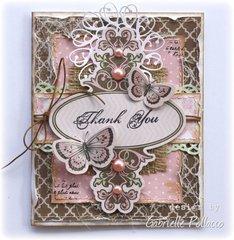 Thank You Card (Bo Bunny - Noteworthy)