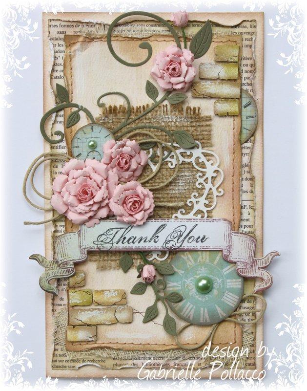 Thank You Card **Cheery Lynn & Bo Bunny**