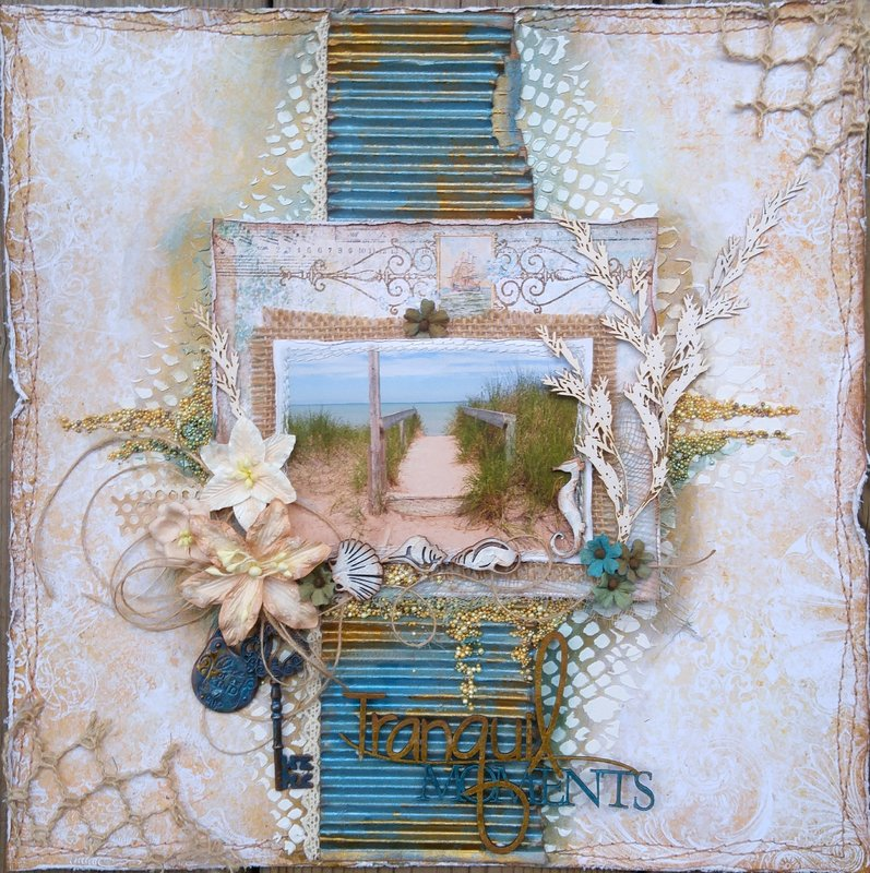 Tranquil Moments {The Scrapbook Diaries Kit & Video Tutorial}