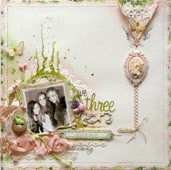 We Three **Websters Pages DT PLUS a NEW Homemade Texture Paste Recipe!!**
