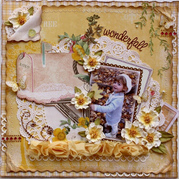 Wonderfall ~ **Websters Pages & Glue Arts*  PLUS VIDEO TUTORIAL for Flowers!!