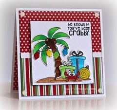 Crabby Christmas card