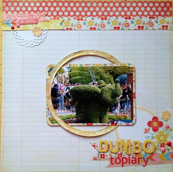 Dumbo topiary